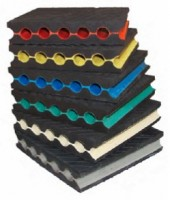 Natural NR rubber anti-vibration perforated plates